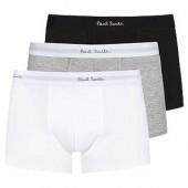 Paul Smith Plain Trunks, Pack of 3, White/Black/Grey