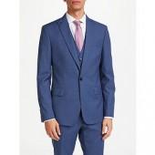 Kin by John Lewis Crepe Slim Fit Suit Jacket, Airforce Blue