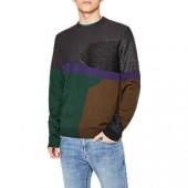 PS Paul Smith Intarsia Knit Merino Jumper, Grey/Multi