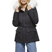 Miss Selfridge Petite Parka Coat, Navy