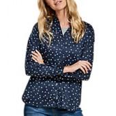 Barbour Faeroe Beacon Spot Print Shirt, Navy/White