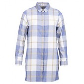 Barbour Wester Long Check Shirt, Blue Marl