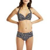 Joules Rimini Fun Spot Bikini Shorts, Navy/Multi