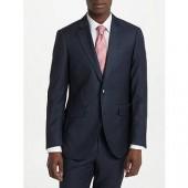 Hackett London Birdseye Wool Regular Fit Suit Jacket, Navy