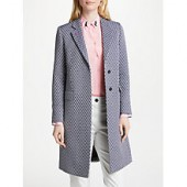 PS Paul Smith Jacquard Cotton Blend Epsom Coat, Navy