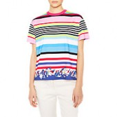 PS Paul Smith Multi Stripe Floral Print T-Shirt, Multi