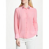 PS Paul Smith Cat Collar Silk Shirt, Pink