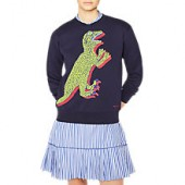 PS Paul Smith Dinosaur Print Sweatshirt, Navy