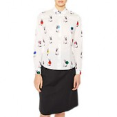 PS Paul Smith Rabbit Print Shirt, White