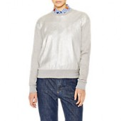 PS Paul Smith Metallic Front Sweatshirt, Grey Marl