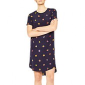 PS Paul Smith Floral Print Straight Silk Dress, Navy/Multi
