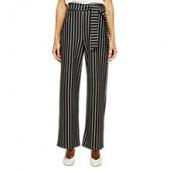 Miss Selfridge Petite Stripe Paperbag Trousers, Multi