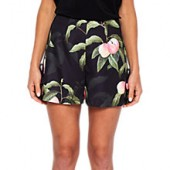 Ted Baker Peach Blossom Print Shorts, Black
