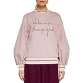 Ted Baker Ted Says Relax Dayzei Logo Sweatshirt, Dusky Pink