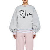 Ted Baker Ted Says Relax Rylieei Logo Sweatshirt, Light Grey