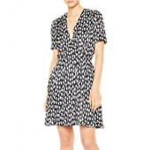 PS Paul Smith Cat Print Silk Mix Dress, Black