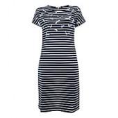 Barbour Faeroe Seagull Print Dress, Navy