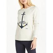 Barbour Heavenfield Gull Print Sweatshirt, Cloud