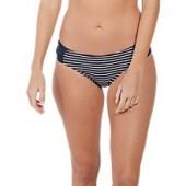 Fat Face Breton Ruched Bikini Bottoms, Navy