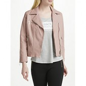 Barbour International Triple Leather Jacket, Pale Pink