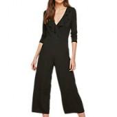 Miss Selfridge Jersey Wrap Jumpsuit, Black