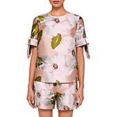 Ted Baker Caytey Chatsworth Bloom Top, Dusky Pink
