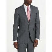 Hackett London Prince of Wales Check Regular Fit Suit Jacket, Mid Grey