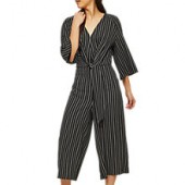 Miss Selfridge Striped Knot Jumpsuit, Multi