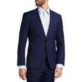 HUGO by Hugo Boss Henry/Griffin Virgin Wool Slim Fit Suit Jacket, Navy