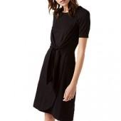 Jigsaw Knot Waist Jersey Dress, Black, Black