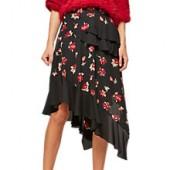Miss Selfridge Floral Hanky Hem Skirt, Multi