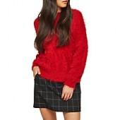 Miss Selfridge Check Pelmet Skirt, Black
