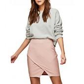 Miss Selfridge Bandage Wrap Mini Skirt, Powder Blush