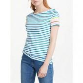Boden Short Sleeve Breton Stripe Top, Multi
