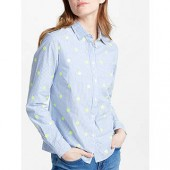 Boden The Classic Shirt, Blue/Ivory Stripe