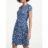 Boden Emory Jersey Dress, Blues/Fallen Blossom