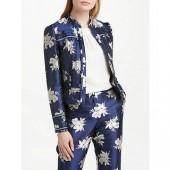 Boden Mariana Jacquard Jacket, Navy Wild Bloom