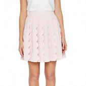 Ted Baker Poppay Scallop Detail Mini Skirt, Baby Pink