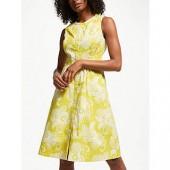 Boden Leila Sleeveless Shirt Dress, Mimosa Yellow
