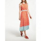 Boden Sylvie Brush Stroke Dress, Blood Orange