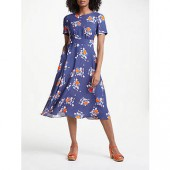 Boden Ruth Midi Dress, Blooming Bouquet
