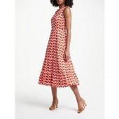 Boden Thea Midi Dress, Blood Orange Flower Cups