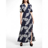 Somerset by Alice Temperley Palm Print Maxi Dress, Navy