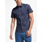 PS Paul Smith Artist Short Sleeve Floral Shirt, Blue