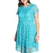 Yumi Curves Guipure Lace Dress, Jade, Jade