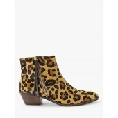AND/OR Paquita Flat Heel Ankle Boots, Leopard