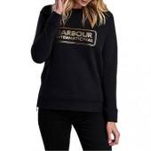 Barbour Mugello Cotton Sweater, Black