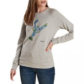 Barbour Sandbanks Lobster Print Sweatshirt, Light Grey Marl