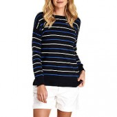 Barbour Marloes Striped Jumper, Navy