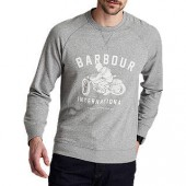 Barbour International Burn Graphic Sweatshirt, Light Grey